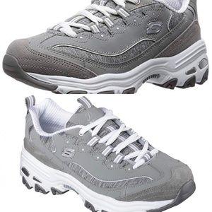 NWOT grey Sketchers D'Lites Memory foam sneakers